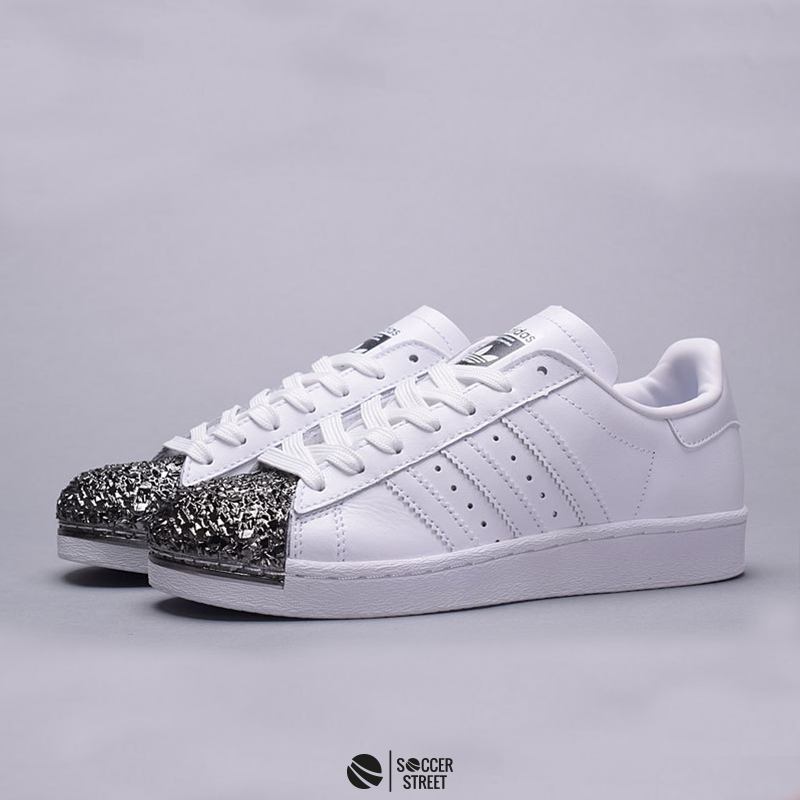 14c88d3df ... Adidas Superstar 80s Metal Toe White Silver Girls Shoes ...