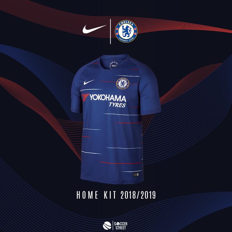 9dd261870e9 ... Chelsea 18/19 Home Soccer Jersey ...