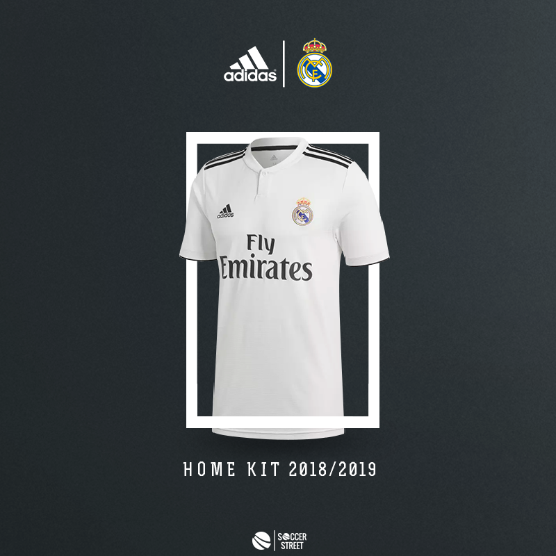 3a57f3774 ... Real Madrid 18 19 Home Soccer Jersey ...