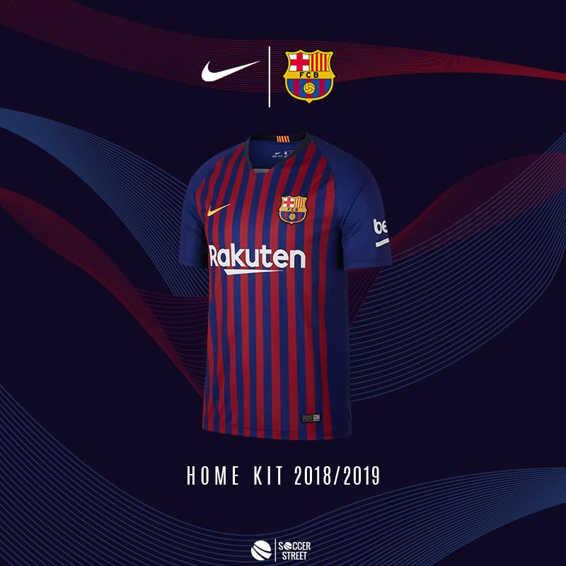6a90e895f6a ... Barcelona 18 19 Home Soccer Jersey ...