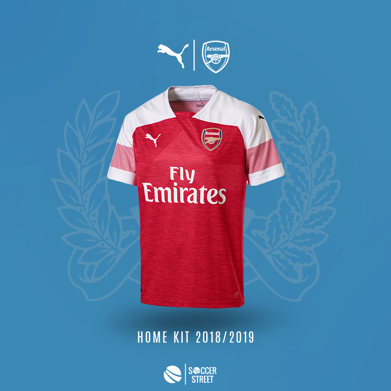 20bc42701 ... Arsenal 18 19 Home Soccer Jersey ...
