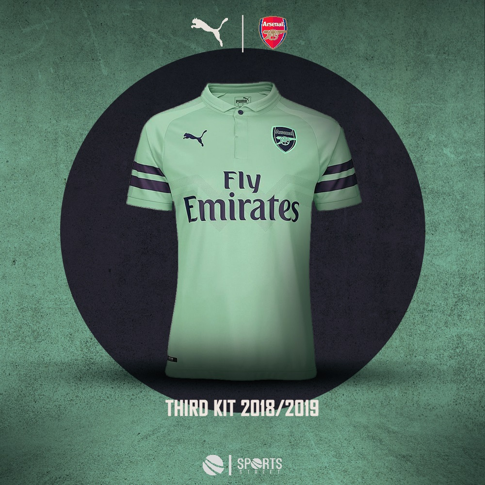 36ce1cd18 ... Arsenal 18 19 Third Soccer Jersey ...