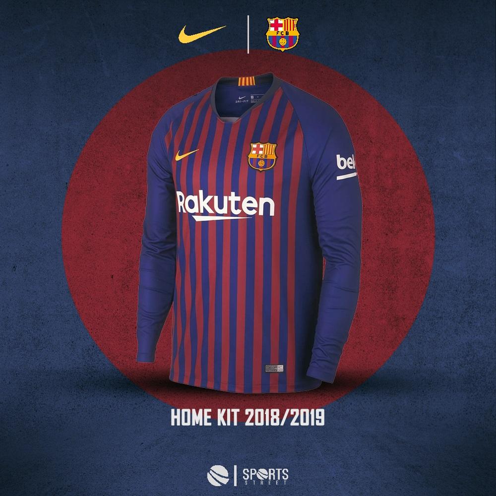 06242d4717 Barcelona 18 19 Home LS Soccer Jersey