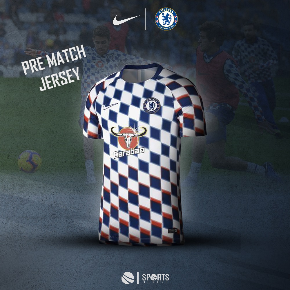 179710748ab Chelsea Prematch Blue/White Jersey 18/19