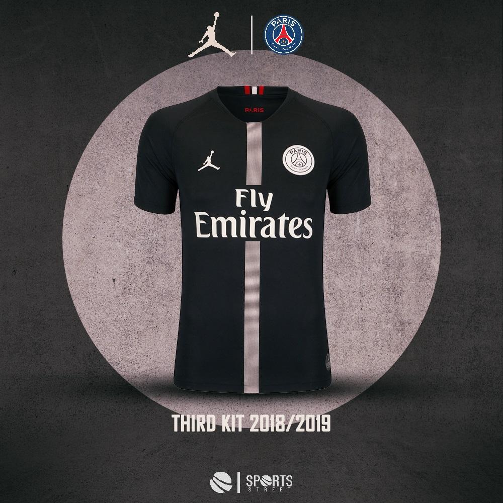 faf19c38c10425 ... PSG 18 19 Jordan Black Soccer Jersey ...