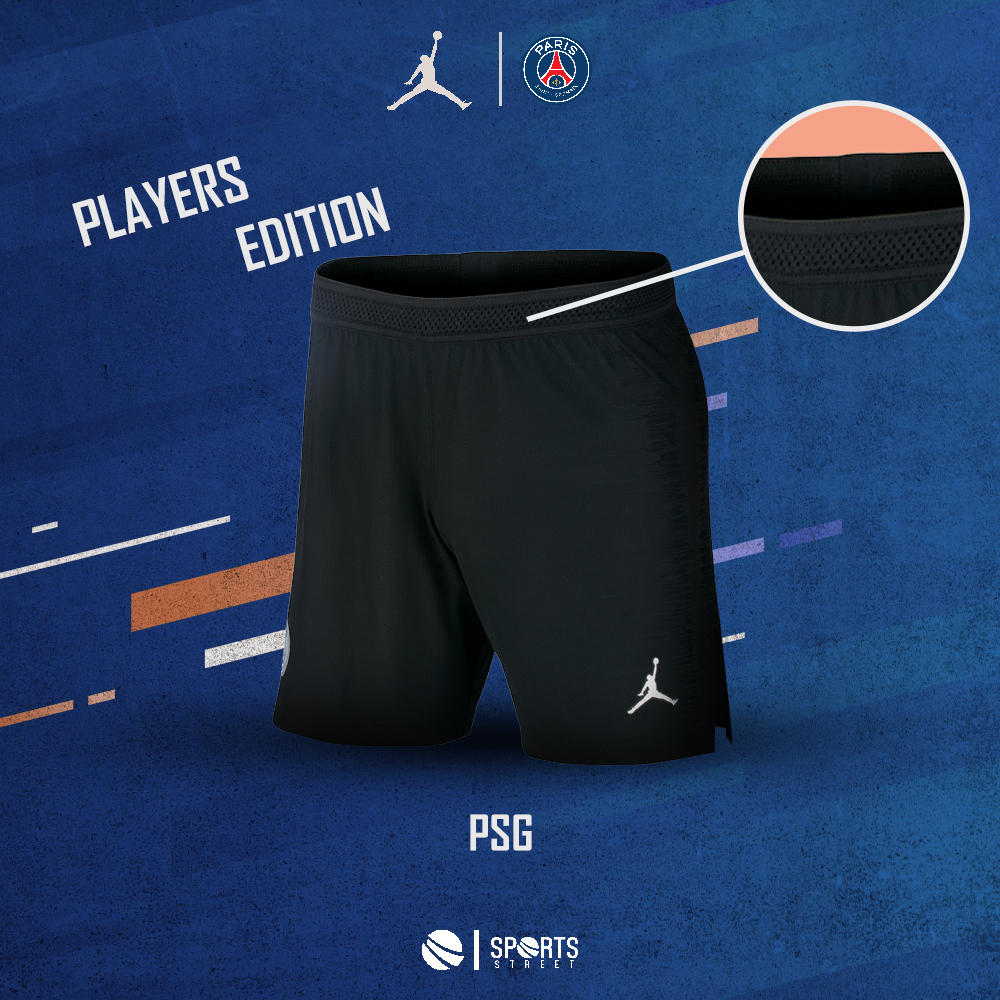 fd934bf14eac93 ... PSG Jordan Black Shorts 18 19 Players Edition ...